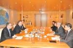 Primirea E.S. domnul Jean-Hubert Lebet, Ambasadorul Elveţiei în România, de către Preşedintele CCIR, domnul Mihai Daraban - 4 decembrie 2014