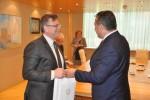 Vizita de lucru Ambasadorului Profesor Victor Ţvircun, Secretar General al Secretariatului Internaţional Permanent al Organizaţiei de Cooperare Economică la Marea Neagră la Camera de Comerţ şi Industrie a Romaniei - 15 aprilie 2015