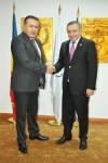 Întrevedere între Preşedintelui CCIR, dl. Mihai Daraban şi Ambasadorul Georgiei în România, E.S. domnul Ilia Giorgadze, la Camera de Comerţ şi Industrie a României