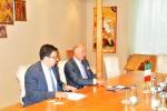 Primirea E.S. domnul Diego Brasioli, Ambasadorul Republicii Italiene în România de către Preşedintele CCIR, domnul Mihai Daraban – 8 iulie 2014