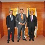 Primirea E.S. domnul Michael Schwarzinger, Ambasador Extraordinar şi Plenipotenţiar al Republicii Austria în România de către Preşedintele CCIR, domnul Mihai Daraban – 28 iulie 2014