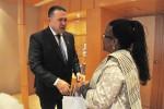 Primirea E.S. doamna Thenjiwe Ethel Mtintso, Ambasadorul Republicii Africa de Sud în România, de către Preşedintele CCIR, domnul Mihai Daraban – 22 octombrie 2014