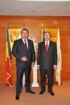 Primirea E.S. domnul Hans Werner Lauk, Ambasadorul Germaniei în România, de către Preşedintele CCIR, domnul Mihai Daraban – 15 septembrie 2014